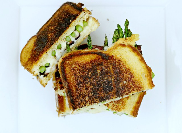 Asparagus Bacon Grilled Cheese Cut