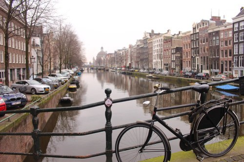 Canals in Amsterdam.