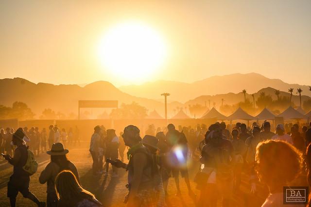 Sunset over Coachella