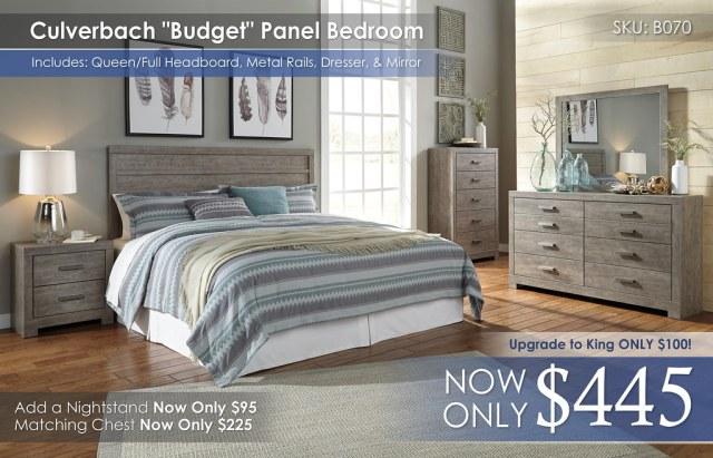 Culverbach Budget Panel Bedroom B070-31-36-46-58-92-Q329