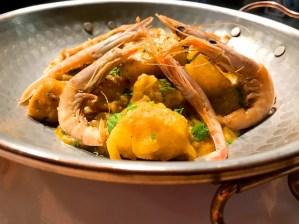Chana masala con marisco. Chef Koketo