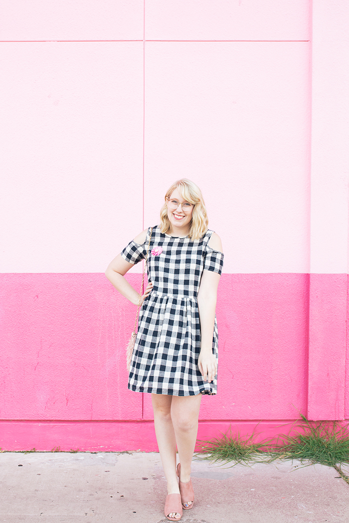 austin fashion blogger writes like a girl gingham dress pink mules14