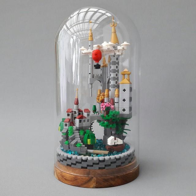 Micro Scale Castle in Glass Dome IKEA HÄRLIGA