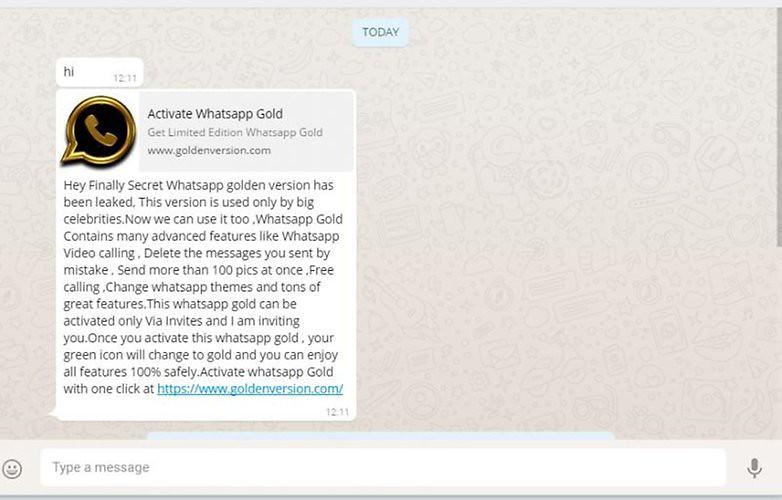 penipuan whatsapp gold