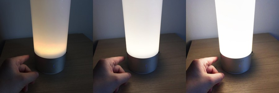 20170616 Test lampe de chevet Aukey Tactile_3 intensités