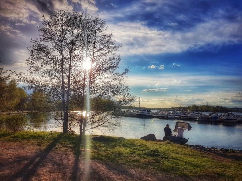 Before sunset through a tree on the shore of the Baltic Sea - Helsinki, Finland - 23 May 2017 . . . . . . #helsinki #finland #suomi #nordic #baltic #myhelsinki #may2017 #lifeinhelsinki #snapseed #summer2017 #taivallahdenkesäteatteri #hietaranta #hietaranta