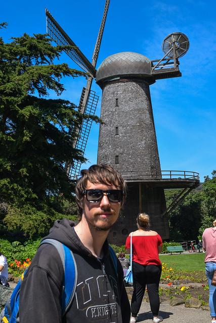 Kyle near the Dutch Windmill