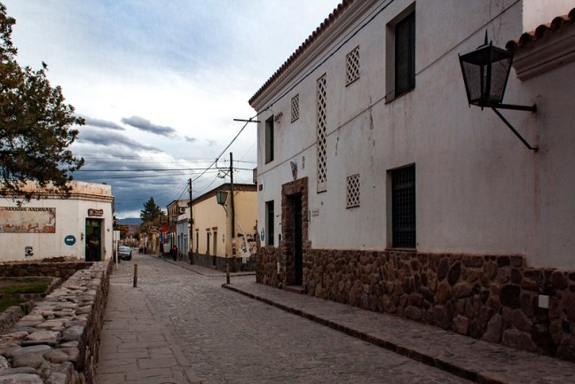 The streets in town Humahuaca, Jujuy, Argentina