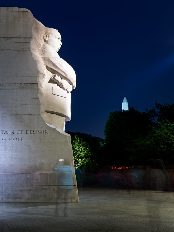 """Out of the mountain of despair, a stone of hope."" Martin Luther King, August 28, 1963"