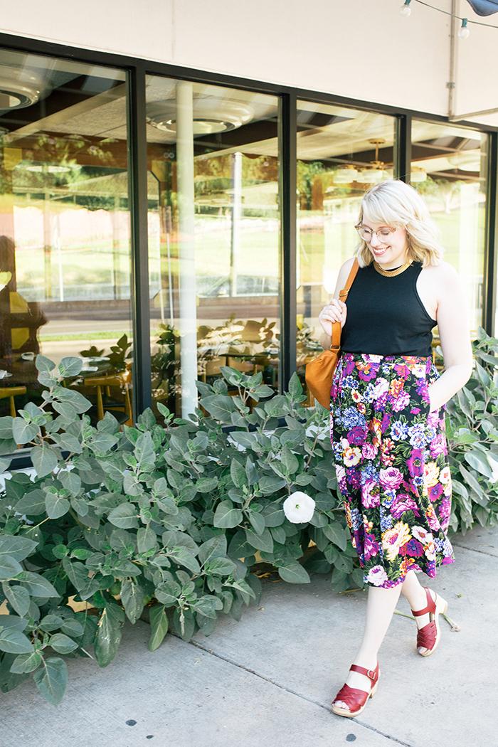 austin style blogger vintage floral midi skirt13
