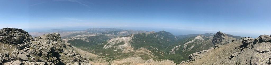 Βόρεια πανοραμική θέα από την κορυφή της Όχης