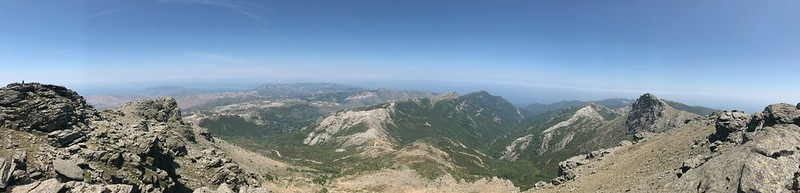 panoramic view from the top of mount ochi in greece