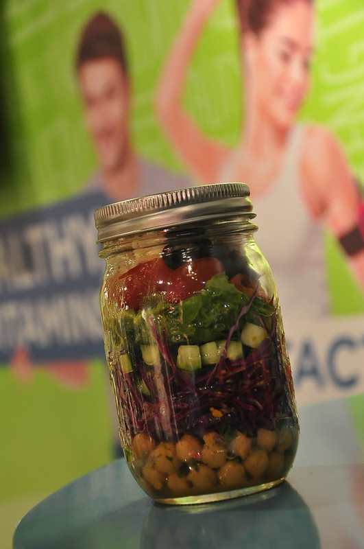 Salad in mason jar