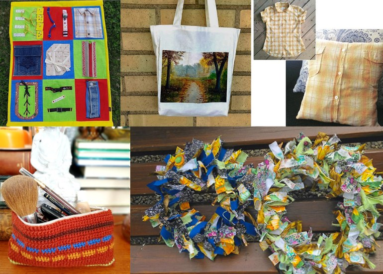 Monthly Makers tyg - aktivitetstavla väsktryck kuddfodral necessär kransar
