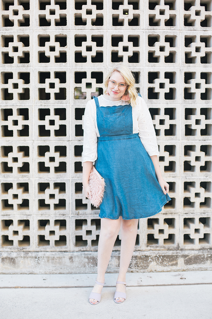 austin style blogger writes like a girl pastel and denim dress outfit7