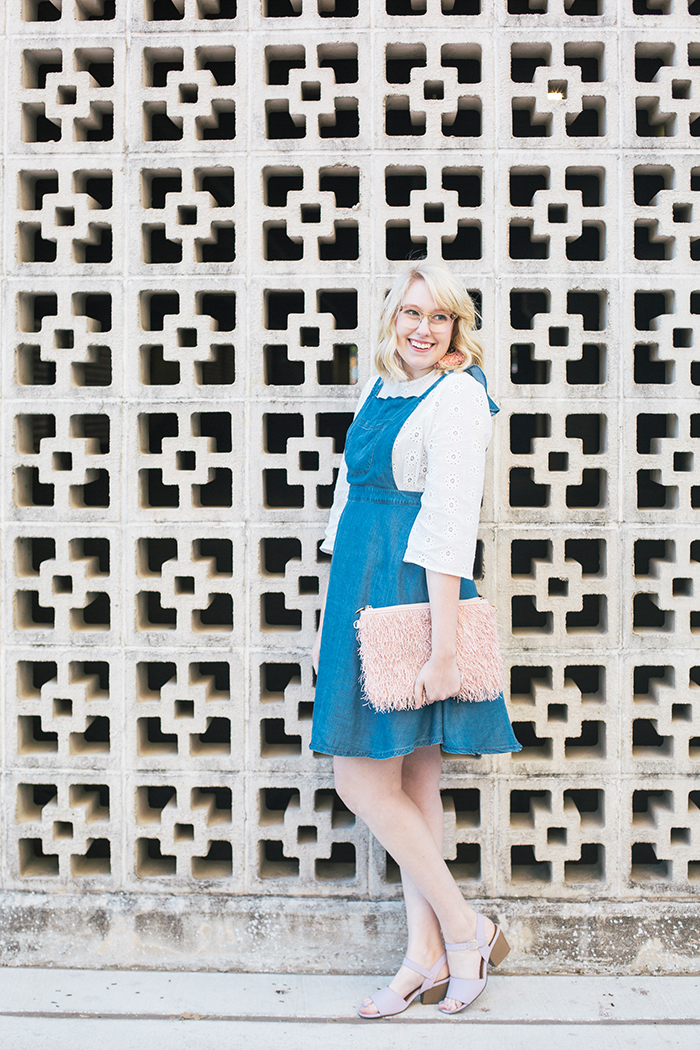 austin style blogger writes like a girl pastel and denim dress outfit3