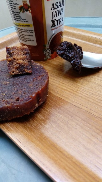 Tamarind paste and indonesian traditional palm sugar