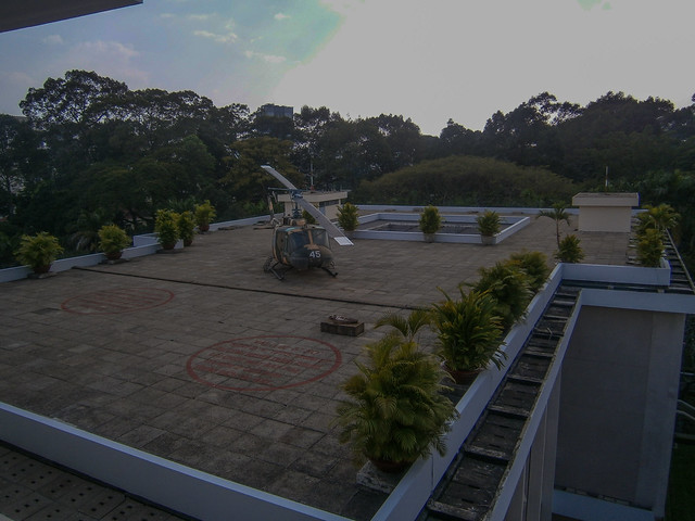 Helicopter Pad on Palace Roof