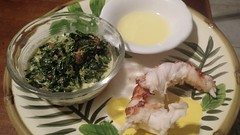 Lobster and spinach