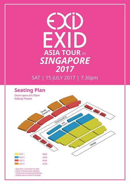 EXID Asia Tour in Singapore Seating Plan