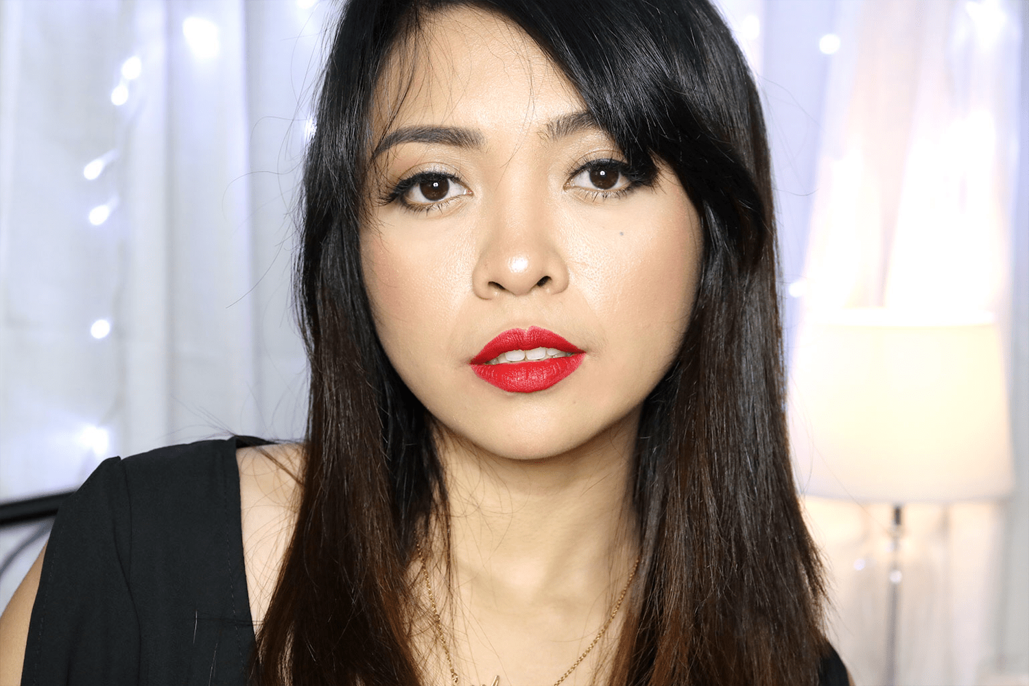 11 Maybelline Loaded Bolds Mattes Review Swatches Photos - Smoking Red - She Sings Beauty by Gen-zel