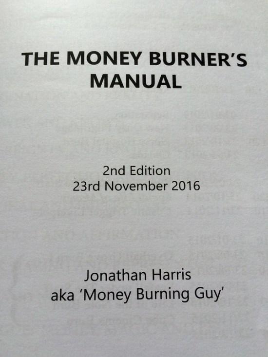 The Money Burner's Manual: A Guide to Ritual Sacrifice by Jonathan Harris