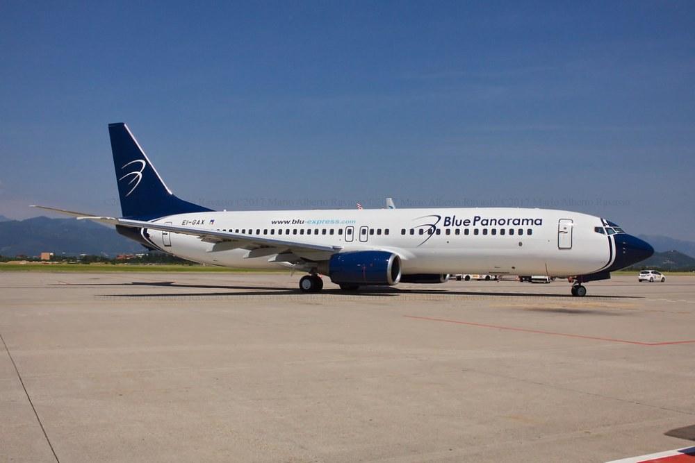 """Blue Panorama Airlines Boeing 737-8Z0 EI-GAX """"Città di Genova"""""""