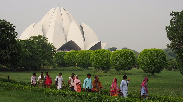Lotus Temple Delhi, via pixabay
