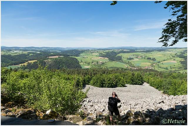 Uitzicht vanaf Coullee de Lave.