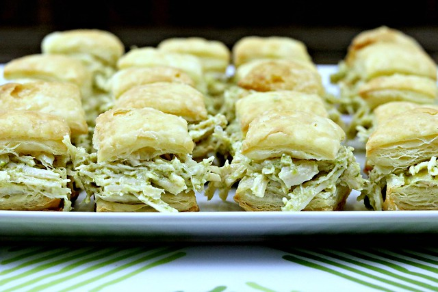 Chicken Pesto Puff Pastry Bites Front