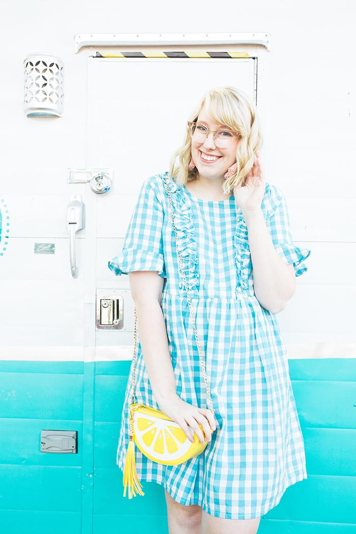 austin fashion blogger writes like a girl gingham asos dress1