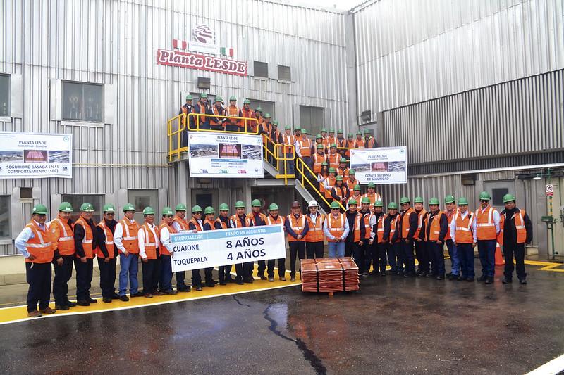 Trabajadores de Planta Lixiviación Cuajone y de Planta Lesde Toquepala con el mismo objetivo: cero accidentes.