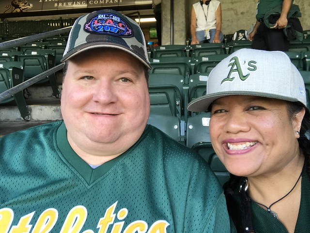 A's game with the one and only