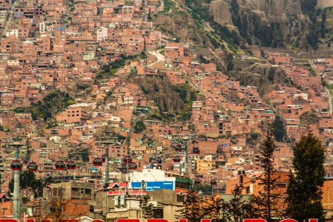 View of the city La Paz City, La Paz, Bolivia