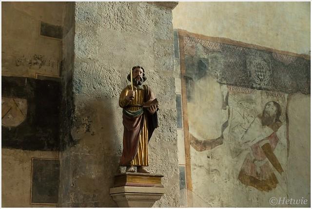 In de abdijkerk van Saint-André.
