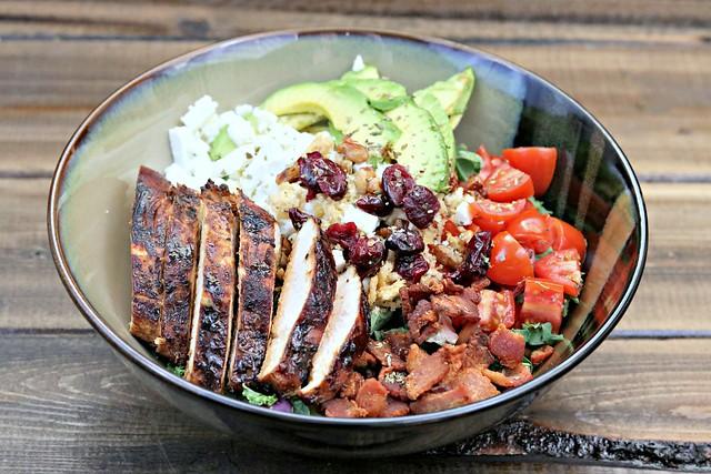 BLT Balsamic Chicken Avocado Feta Salad front