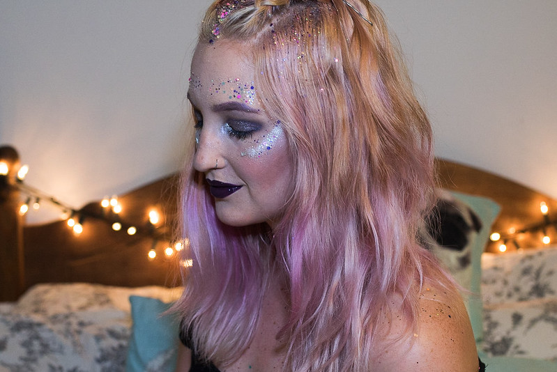 festival glitter make up