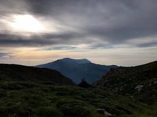 sunrise over mount kyllini in greece