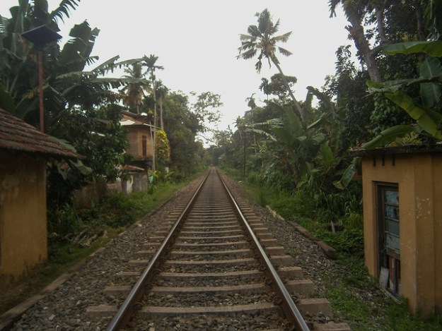 Train tracks in Weligama