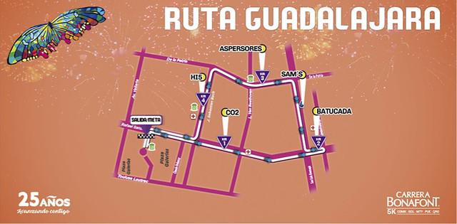 Ruta Carrera Bonafont 2017 GDL