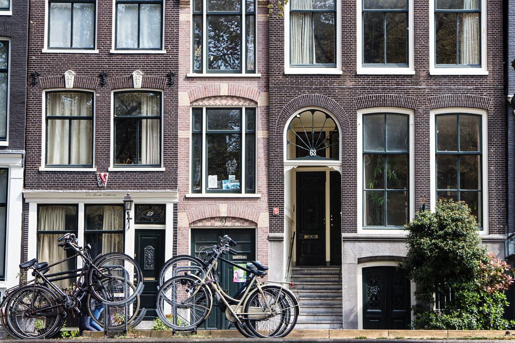 Narrow Amsterdam buildings