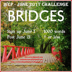 June Badge #WEPFF Bridges writing