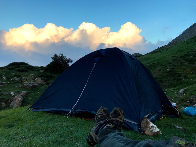 camping on mount cyllene in greece