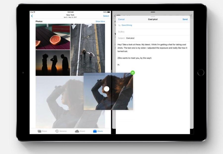2_glisser deposer iOS 11 iPad