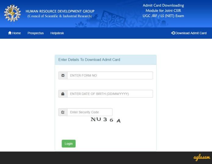 CSIR NET Admit Card 2018