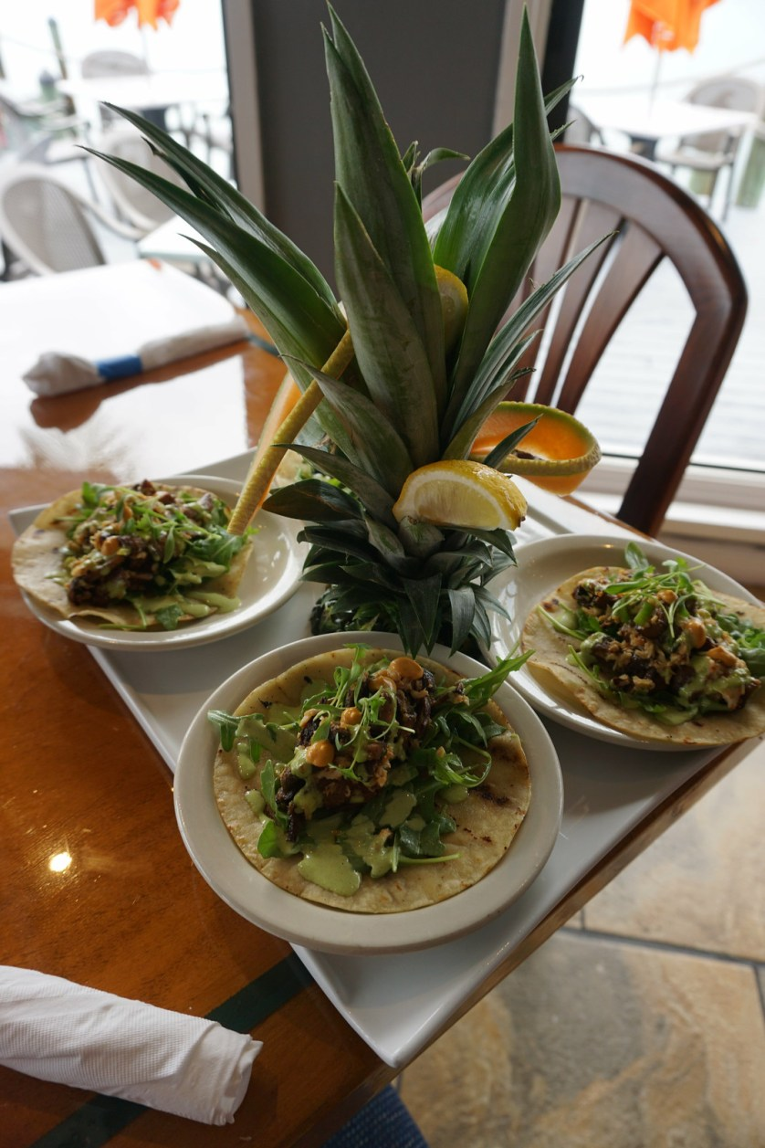 Szechuan Crab Mushroom Taco, Nauti Parrot Dock Bar, Fort Myers Beach, Fla.