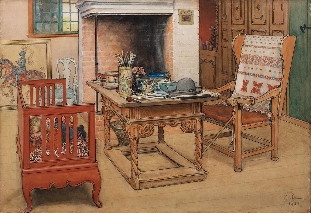 Carl Larsson Peek A Boo 1901 This Watercolour Shows