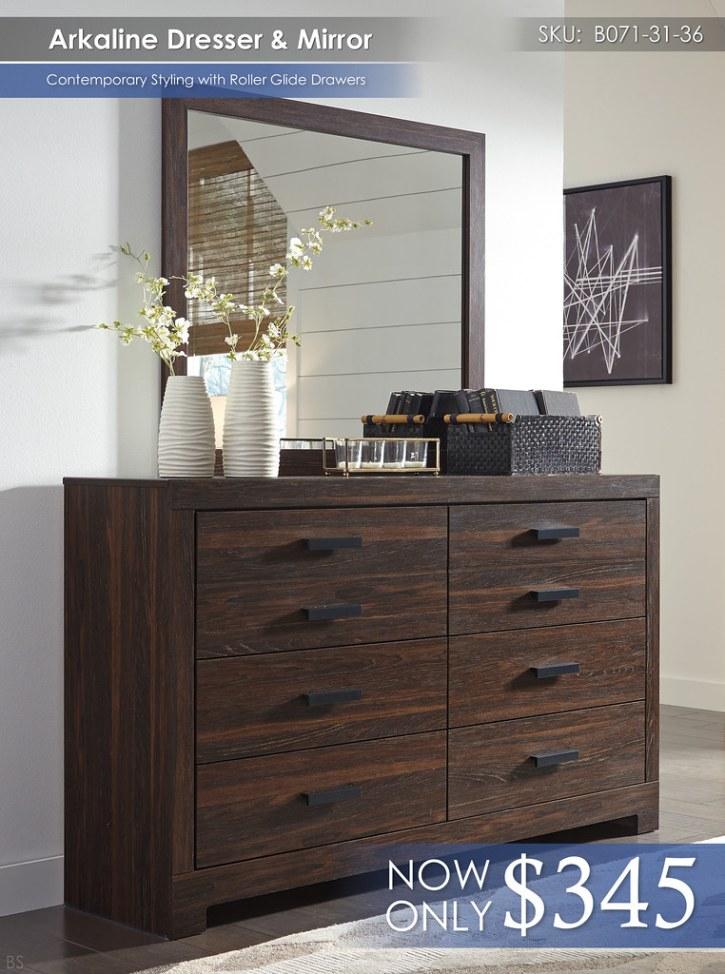 Arkaline Dresser & Mirror B071-31-36