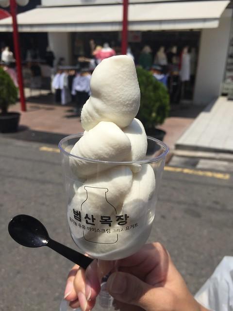 이화여대 앞에서 처음 만난 범산목장 아이스크림