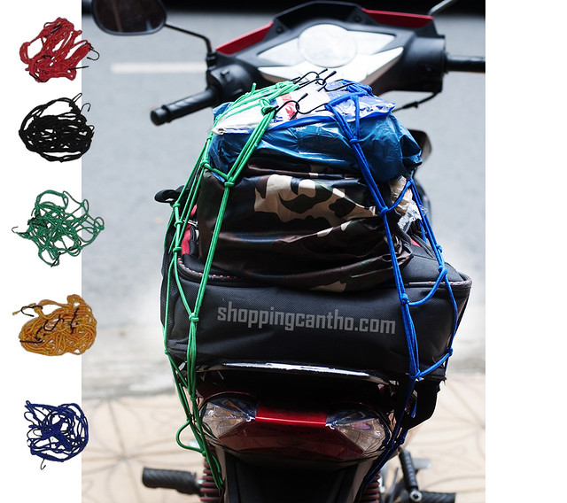 Lưới ràng đồ xe máy- Lưới chằng bình xăng Cần Thơ